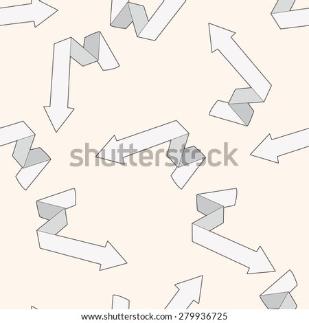 arrow , cartoon seamless pattern background