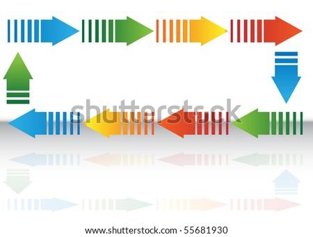 Arrow Chart - stock vector