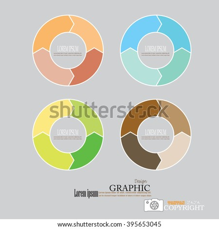 arrow circle .circular arrow.arrow colorful. Circle.vector Illustration . - stock vector