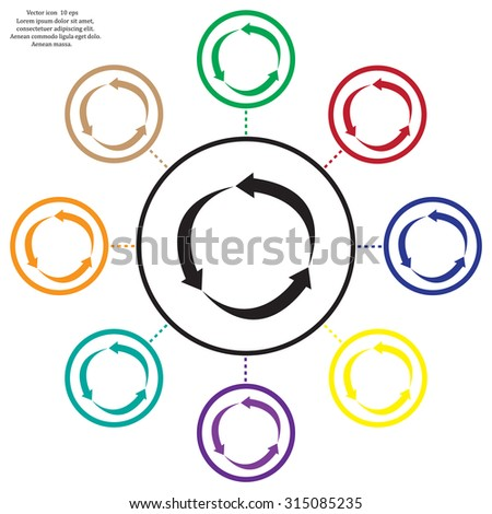 Arrow circle icon - cycle, loop & roundabout signs etc