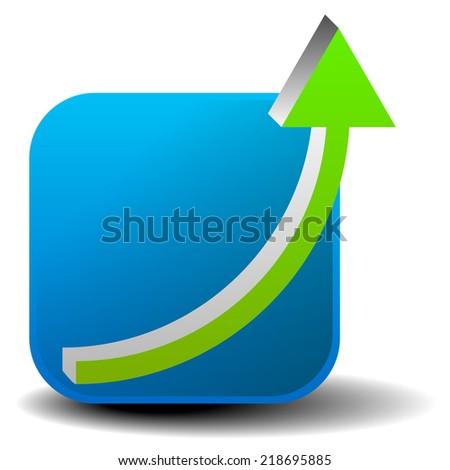 Arrow climbing up. Growth, achieve, increase vector. - stock vector