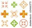 Arrow cross signs. - stock photo