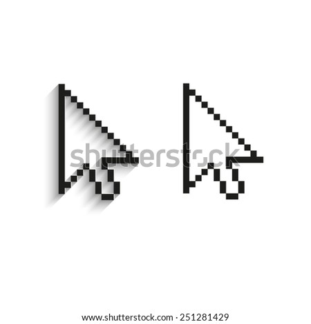 arrow cursor  - black vector icons - stock vector