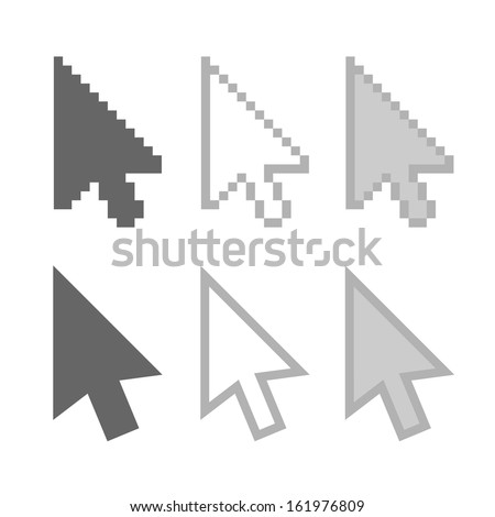 Arrow cursors - stock vector