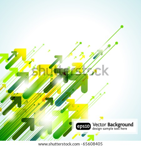 Arrow Design Background - stock vector
