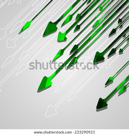 Arrow design background, dynamic illustration. - stock vector