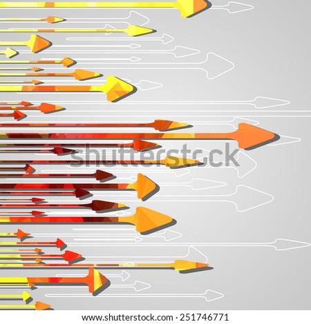 Arrow design background dynamic illustration. - stock vector