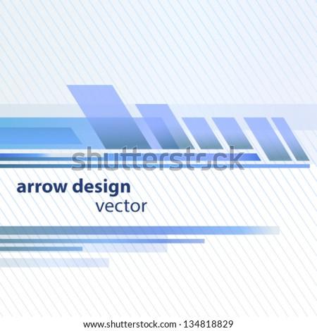 Arrow design cover background - stock vector