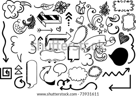 arrow design elements - stock vector