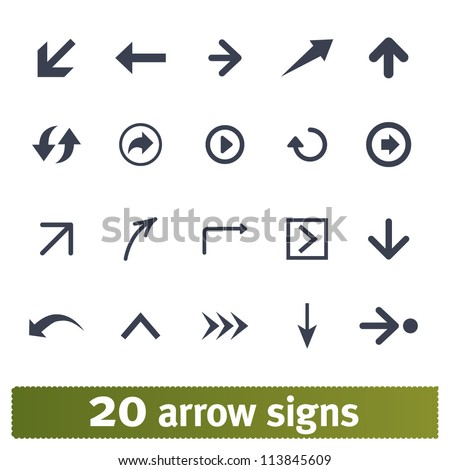 Arrow, direction signs: web vector set - stock vector