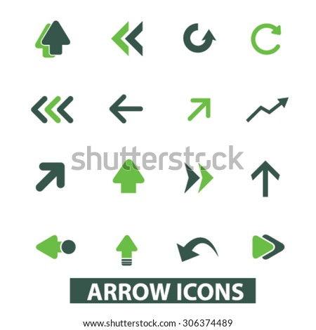 arrow, directions icons, signs, illustrations  - stock vector