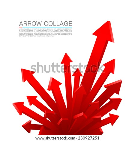 Arrow explosion. Vector illustration