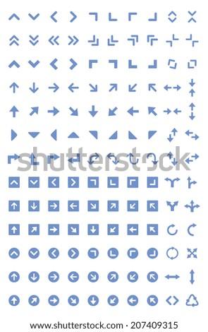 Arrow icon - stock vector