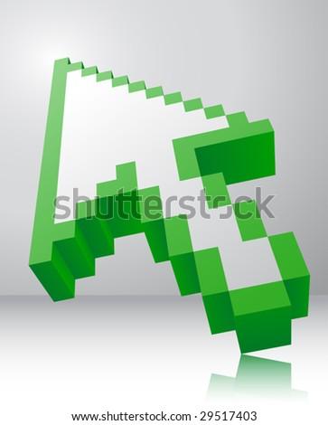 arrow icon 3d - stock vector
