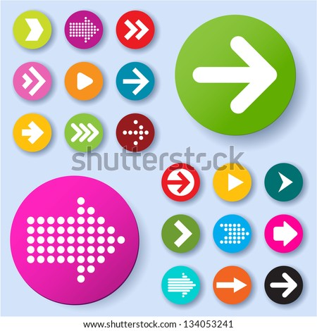 Arrow icon set. Vector. - stock vector