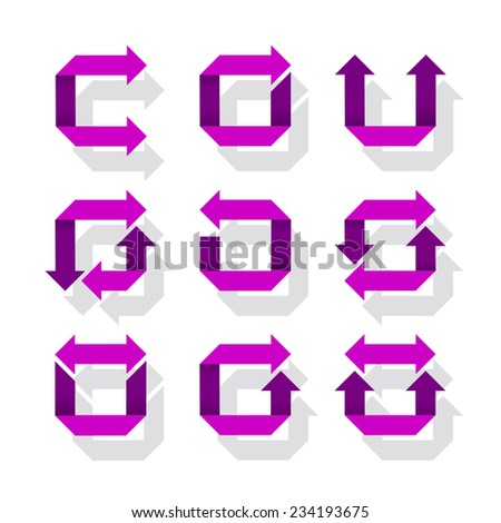 Arrow Icon Set, vector eps 10 illustration - stock vector