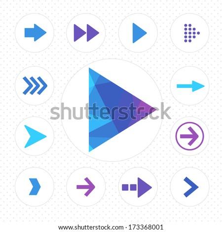arrow icon vector - stock vector