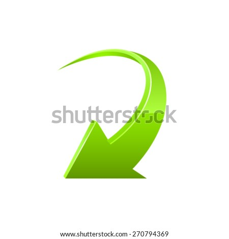 Arrow icon. Vector - stock vector