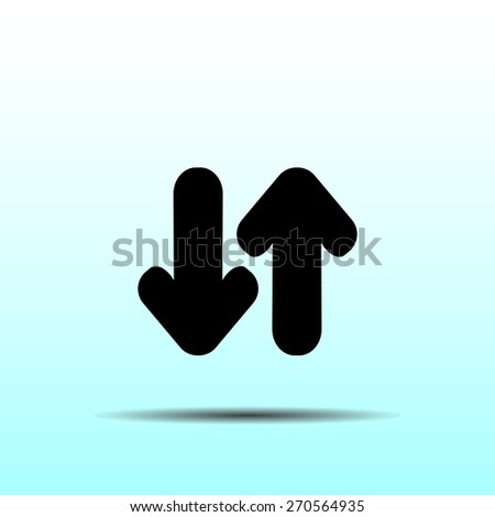 Arrow icon, vector illustration. Flat design style. - stock vector