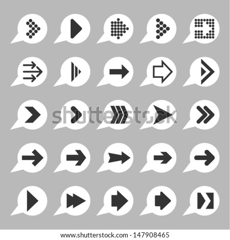 Arrow icons for site - stock vector