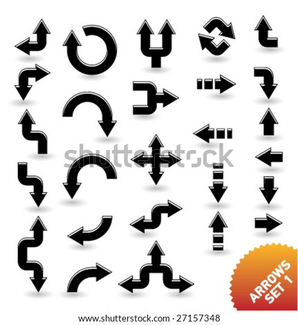 arrow icons [set 1] - stock vector