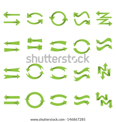 Arrow Icons Set - Isolated On White Background - Vector Illustration, Graphic Design Editable For Your Design. - stock vector