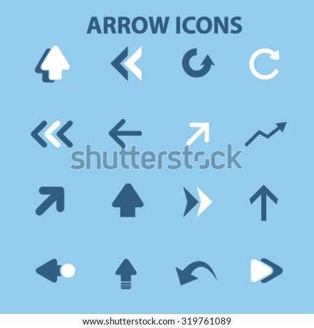 arrow icons, signs - stock vector