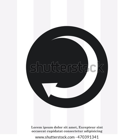 Arrow indicates the direction  icon, vector illustration