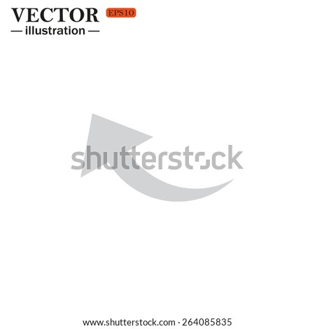 arrow indicates the direction, vector illustration, EPS 10 - stock vector