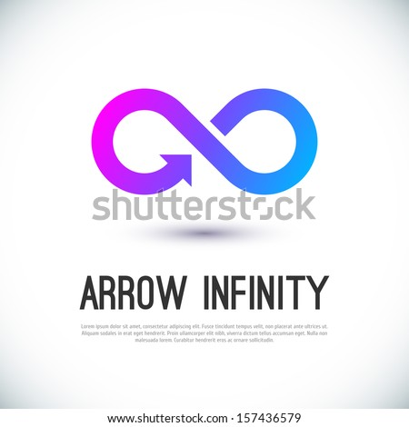 Arrow infinity business vector logo design template for your design. - stock vector