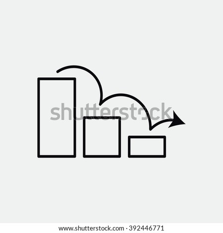 arrow on the scale web icon. vector design