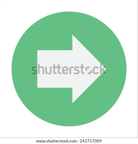 Arrow pointing right flat icon - stock vector