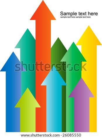 Arrow pointing up illustration vector - stock vector