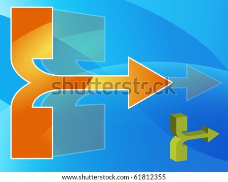 Arrow Presentation Background - stock vector