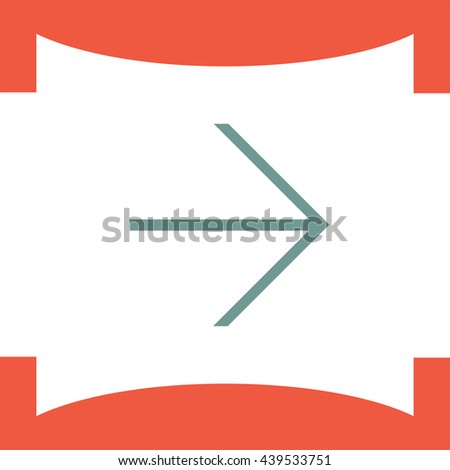 Arrow right sign line vector icon. Direction sign line icon.