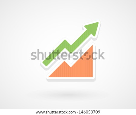 Arrow rise - stock vector
