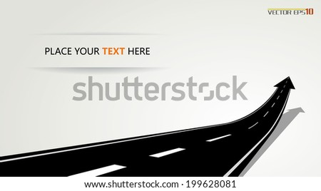 Arrow road - stock vector