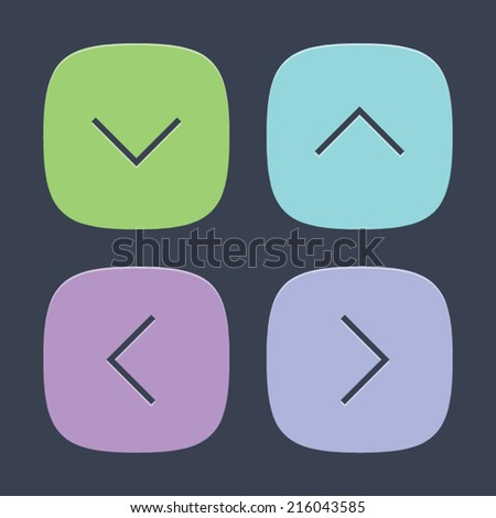 Arrow Set of Icons. Vector symbol pictogram icon design. Simple flat metro style. Save for esp10 - stock vector