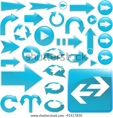 Arrow set vector for design. - stock vector