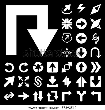 Arrow set vector for design.