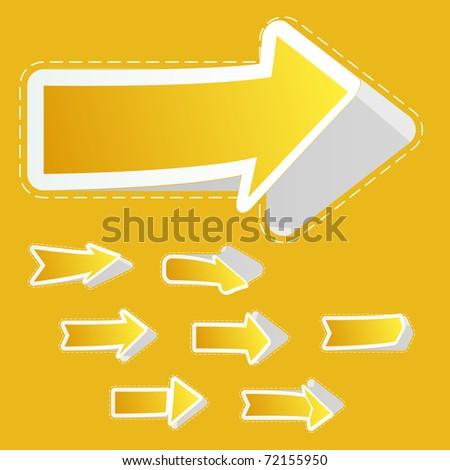 Arrow set vector for design. - stock vector