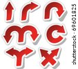 Arrow set vector for design. Sticker set. - stock vector