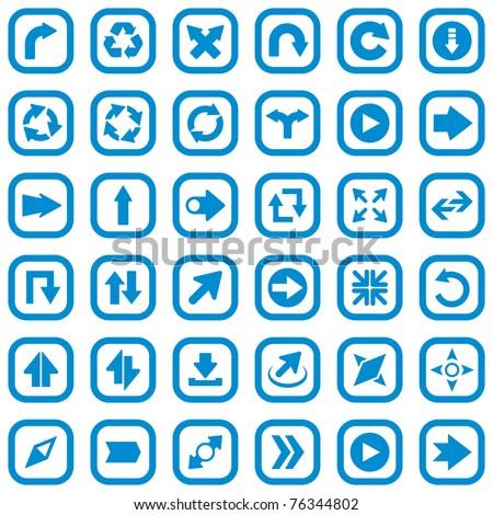 Arrow set vector. Navigator icon. Move forward Icon - stock vector