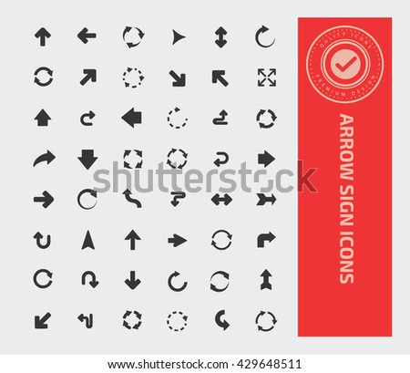 Arrow sign icon set,vector - stock vector