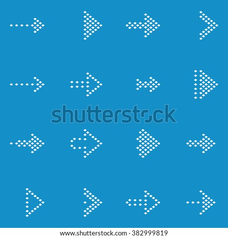 Arrow sign icon set . Vector illustarion - stock vector
