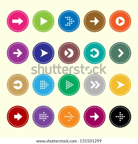 Arrow sign icons set 2 - stock vector