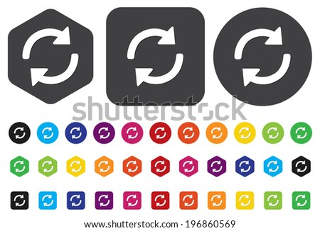 arrow sign reload refresh rotation - stock vector