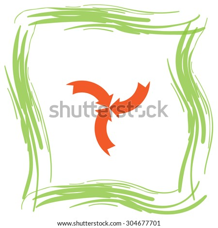 arrow sign vector icon
