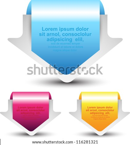 arrow tag/label - stock vector
