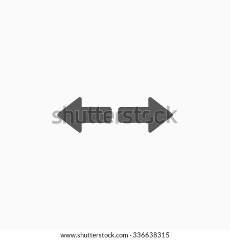 arrow to left and right icon - stock vector